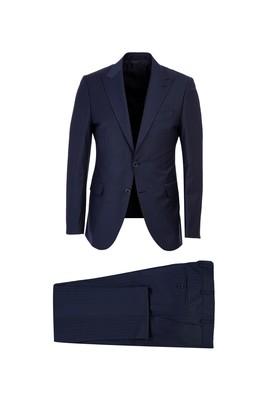 Yünlü Çizgili Slim Fit Takım Elbise