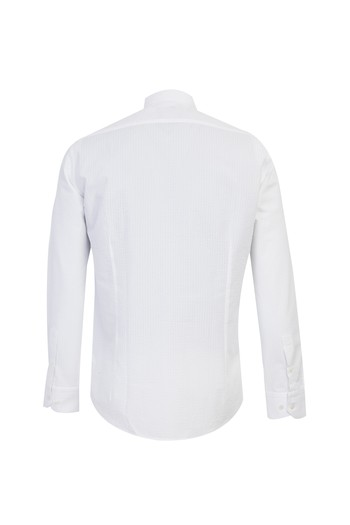 Uzun Kol Regular Fit Hakim Yaka Gömlek