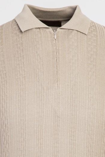 Fermuarlı Polo Yaka Regular Fit Tişört