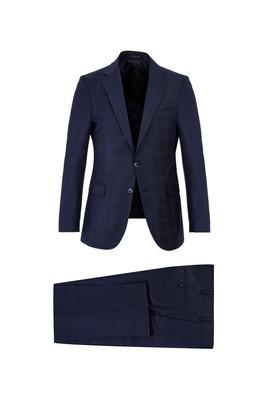 Yünlü Kareli Slim Fit Takım Elbise