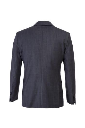Slim Fit Yünlü Çizgili Kruvaze Takım Elbise