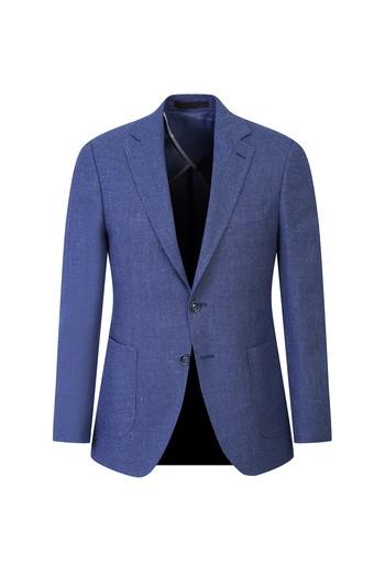 İtalyan Regular Fit Yünlü Kuşgözü Ceket