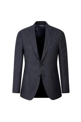 Yünlü Slim Fit Kuşgözü Ceket