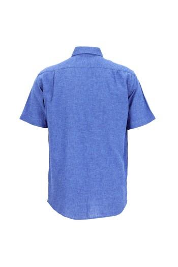 Kısa Kol Regular Fit Keten Gömlek
