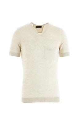 Düğmeli Yaka Slim Fit Triko Tişört