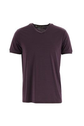 V Yaka Slim Fit Tişört