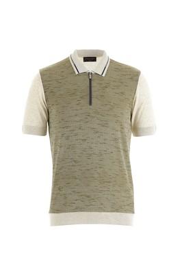 Polo Yaka Slim Fit Desenli Triko Tişört