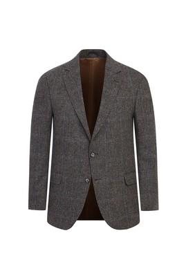 Regular Fit Yün Desenli Ceket