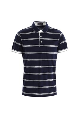 Polo Yaka Regular Fit Çizgili Tişört
